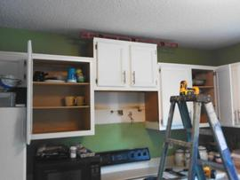 cabinetry installation microwave replacement